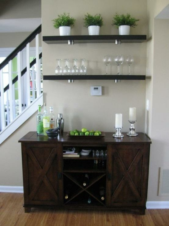 Small Bar For Living Room  DIY Home Staging Tips
