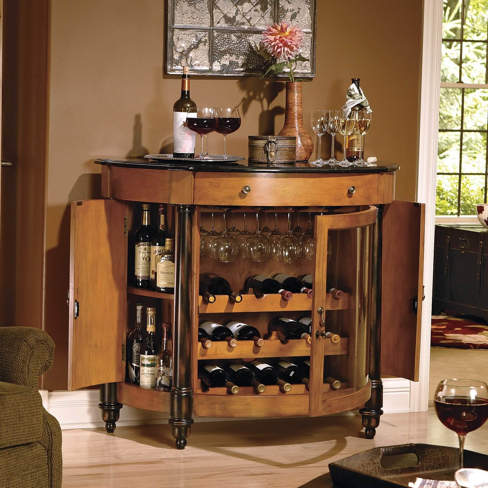 Small Bar For Living Room  42 Top Home Bar Cabinets Sets & Wine Bars 2020