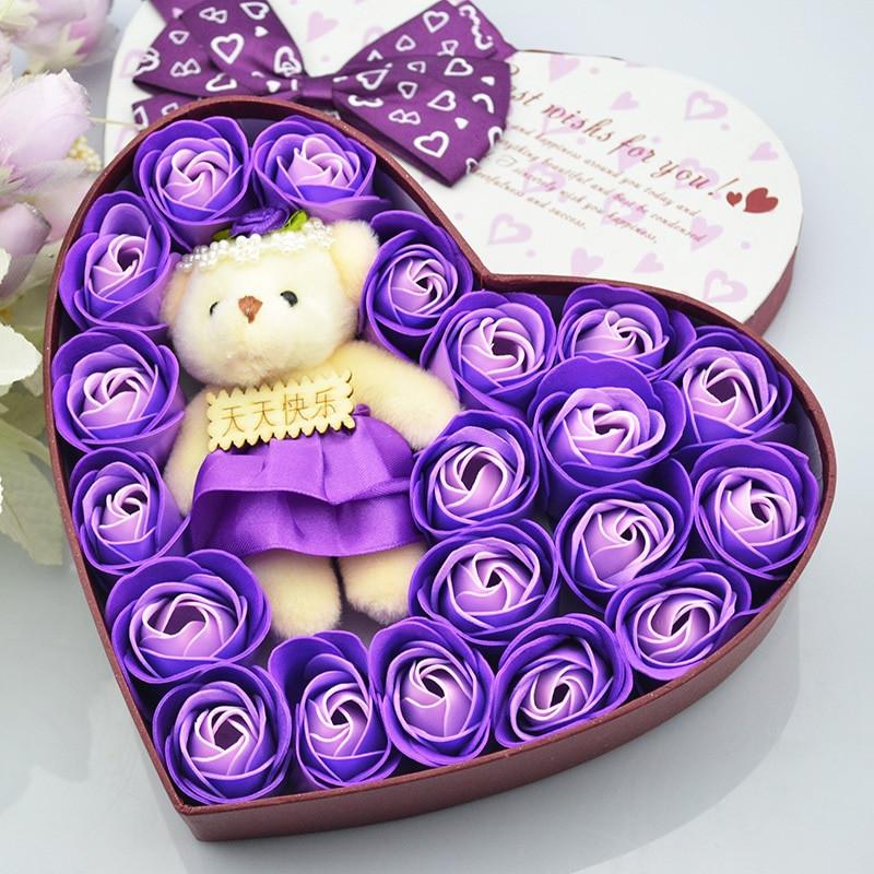 Small Gift Ideas For Girls  Rose flower soap flower t birthday t ideas girls