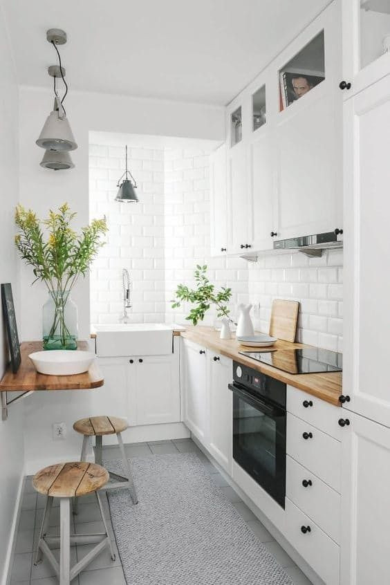 Small Narrow Kitchen Ideas  7 Space Saving Solutions for Small Kitchens Daily Dream