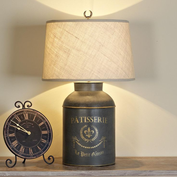 Small Table Lamps For Kitchen  French Canister Table Lamp I would love this on a