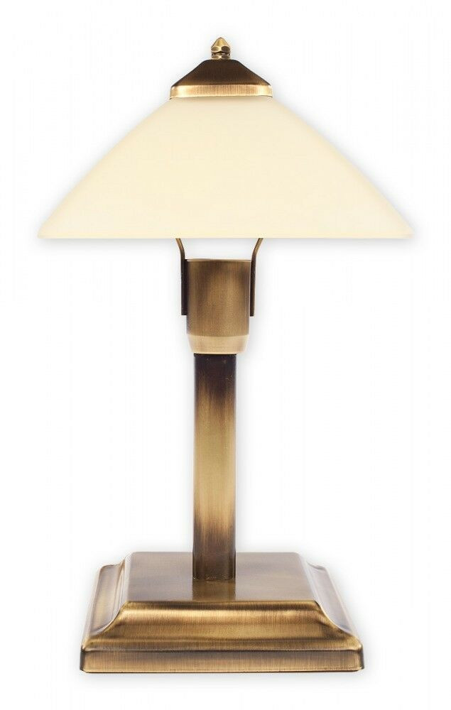 Small Table Lamps For Kitchen  SMALL TABLE LAMP RETRO GOLD & CREAM GLASS CROSS