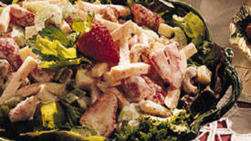 Smoked Turkey Salad  Smoked Turkey Salad with Strawberries recipe from Betty