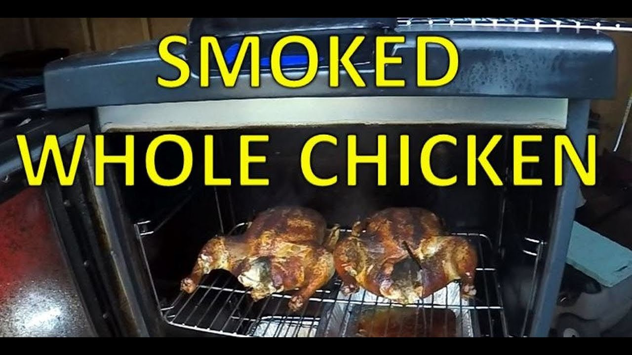 Smoking Whole Chicken In Masterbuilt Electric Smoker  Smoked Whole Chicken Masterbuilt Smoker