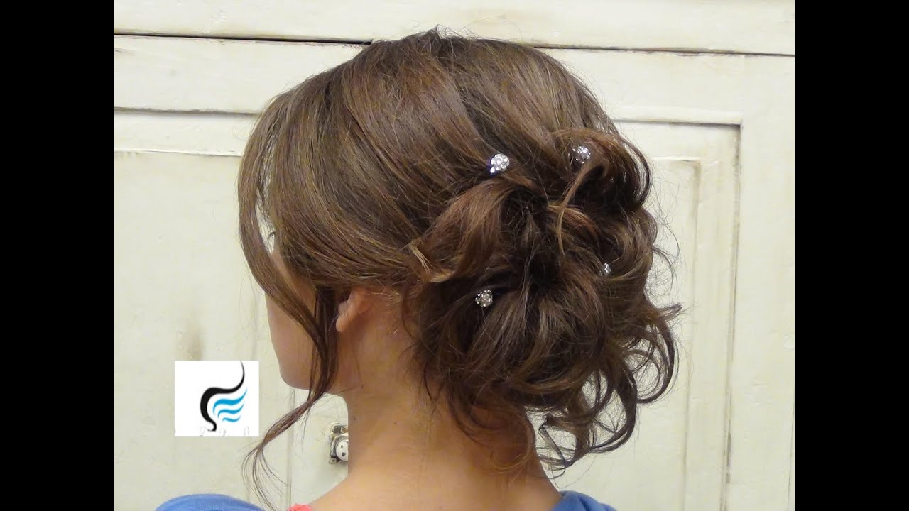Soft Wedding Hairstyles  Soft Curled Updo for Long Hair Prom or Wedding Hairstyle
