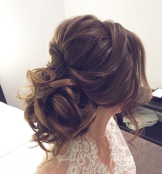 Soft Wedding Hairstyles  Soft updo bridal hairstyles wedding hairstyles