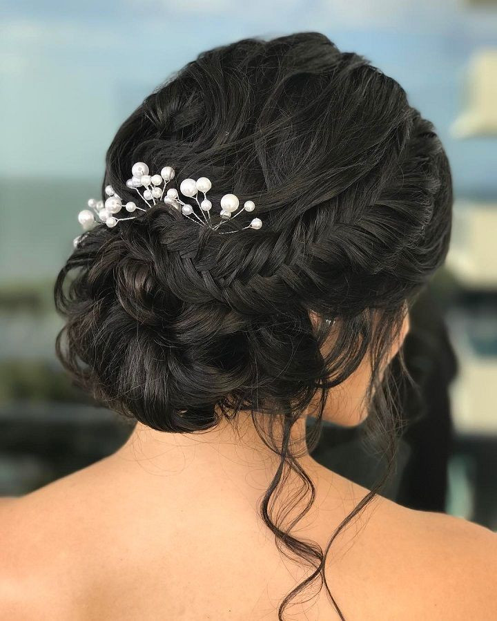Soft Wedding Hairstyles  Soft braided updo bridal hairstyle Get inspired by