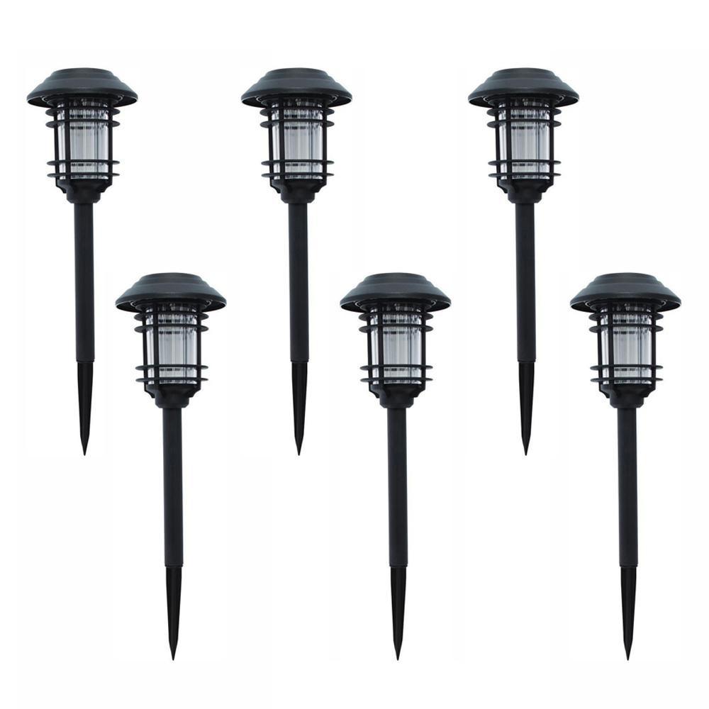 Solar Landscape Lighting Reviews  Hampton Bay Solar Black Outdoor Integrated LED Landscape