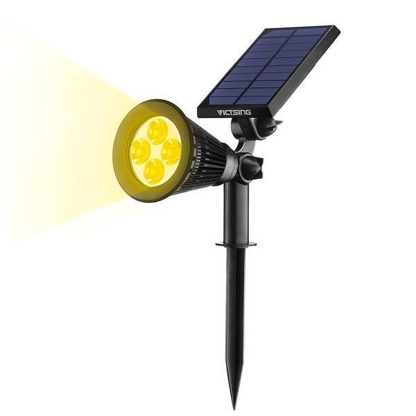 Solar Landscape Lighting Reviews  Shop VicTsing Solar Spotlights 4 LED Landscape Solar