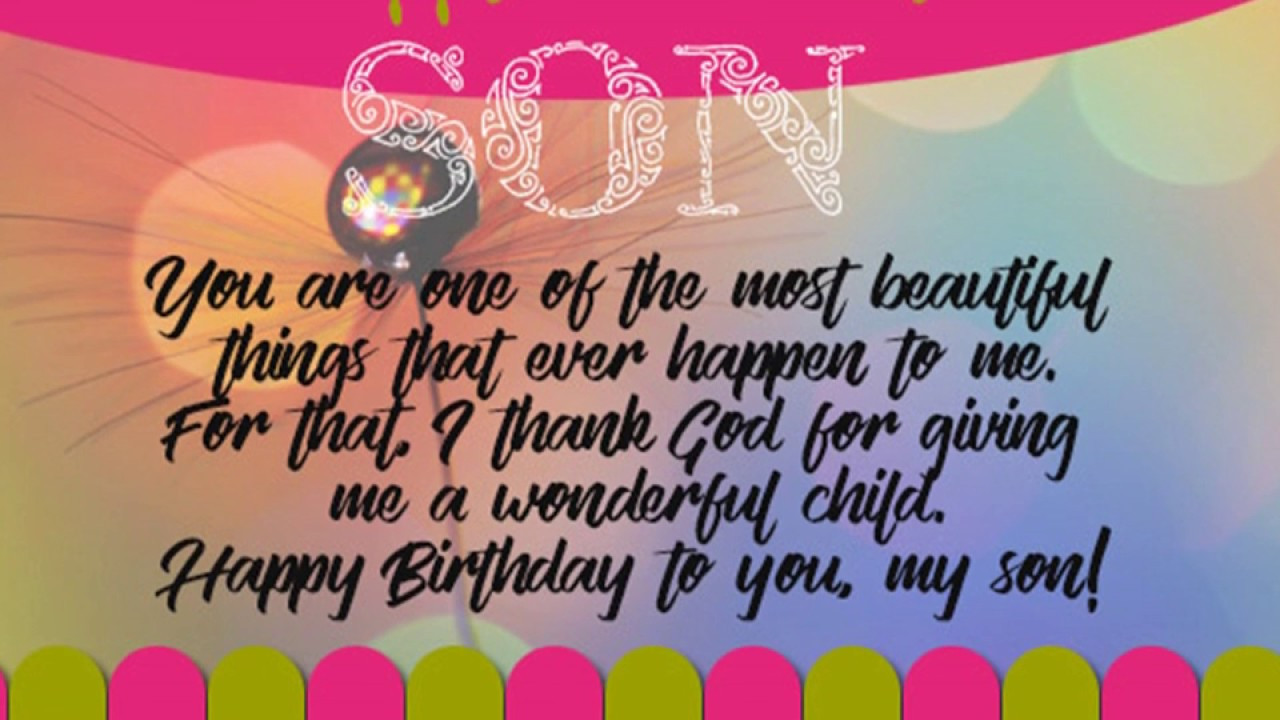 Son Birthday Quote  Happy Birthday Quotes Wishes Greetings Sms Sayings