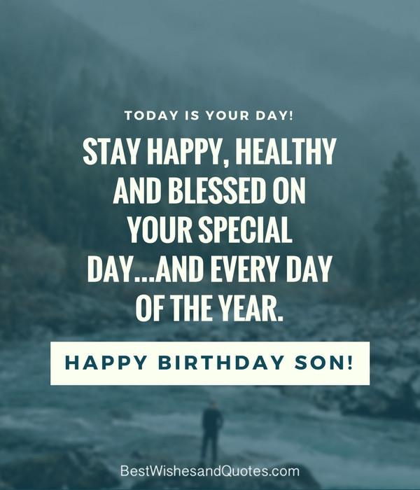 "Son Birthday Quote  35 Unique and Amazing ways to say ""Happy Birthday Son"""