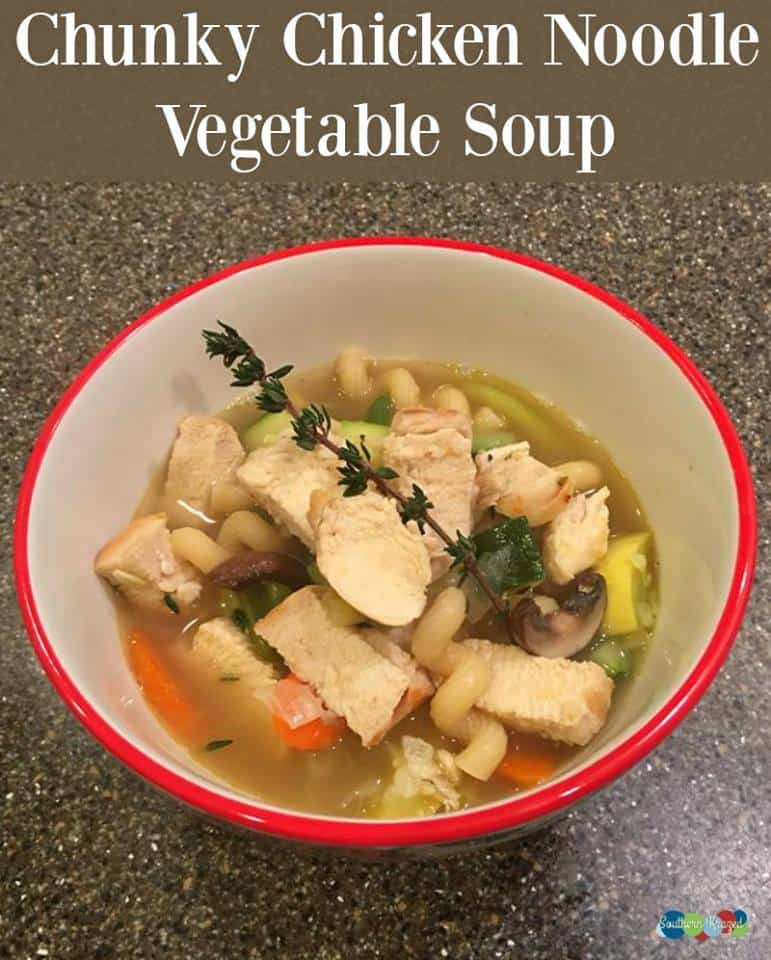 Southern Living Chicken Noodle Soup  Chunky Chicken Noodle Ve able Soup Recipe 12 Days