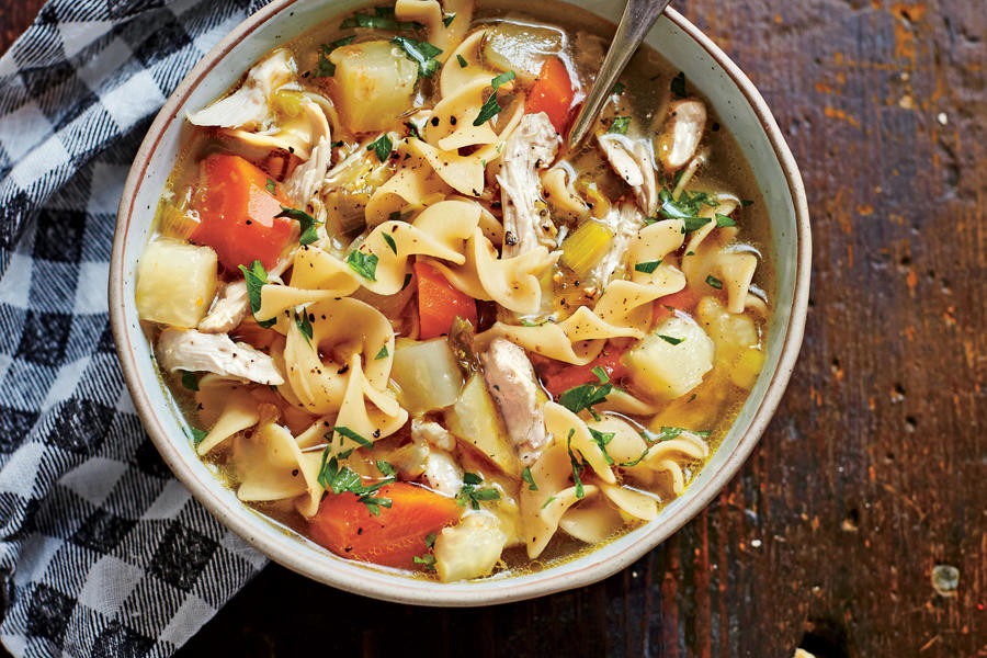 Southern Living Chicken Noodle Soup  Soulful Chicken Soup Easy Soup and Stew Recipes