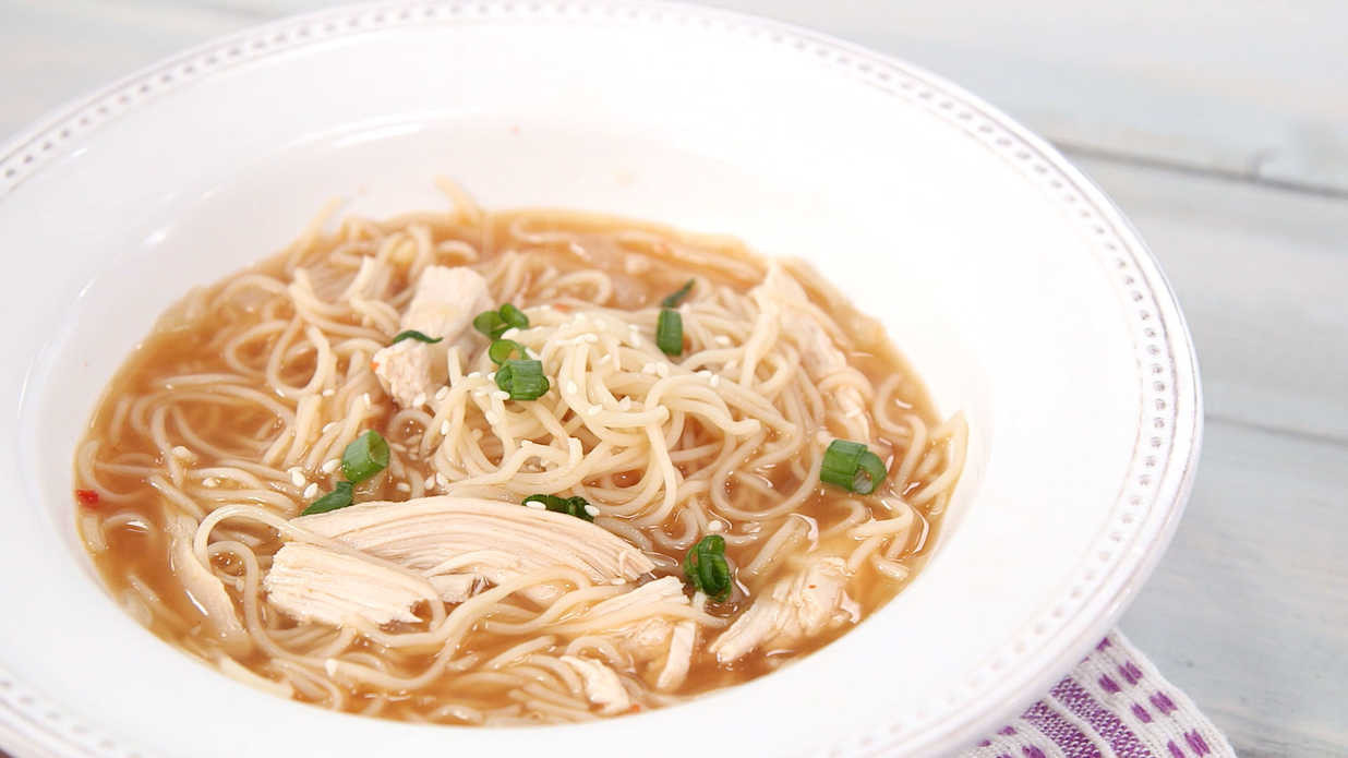 Southern Living Chicken Noodle Soup  Sriracha Chicken Noodle Soup Video Southern Living
