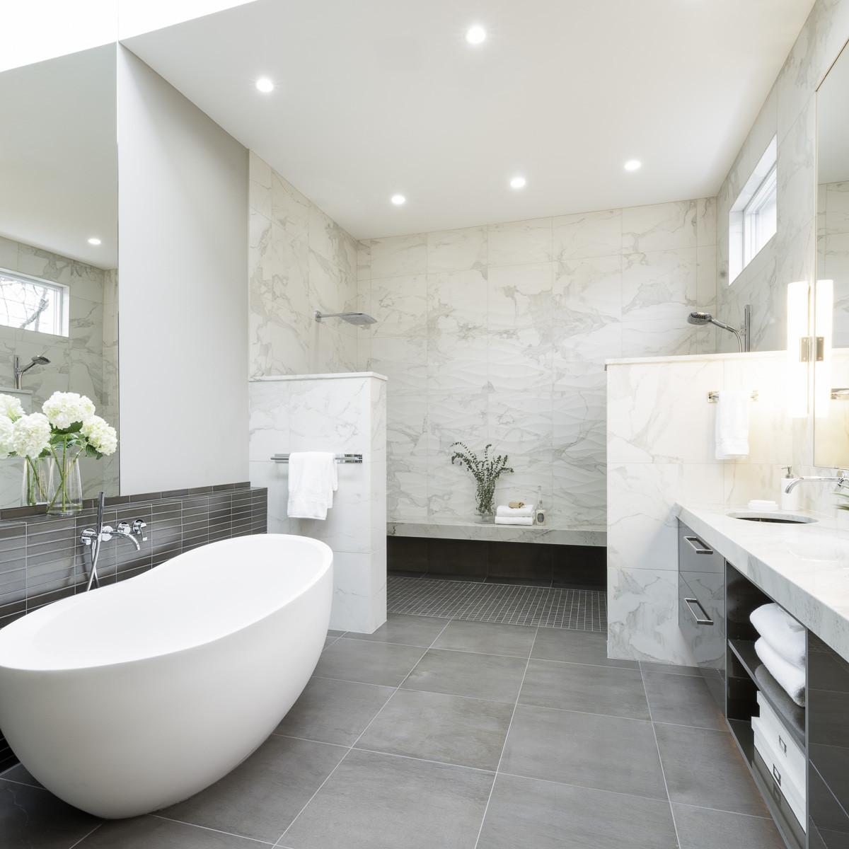 Spa Master Bathroom  Modern Luxury Master Bath Six Walls