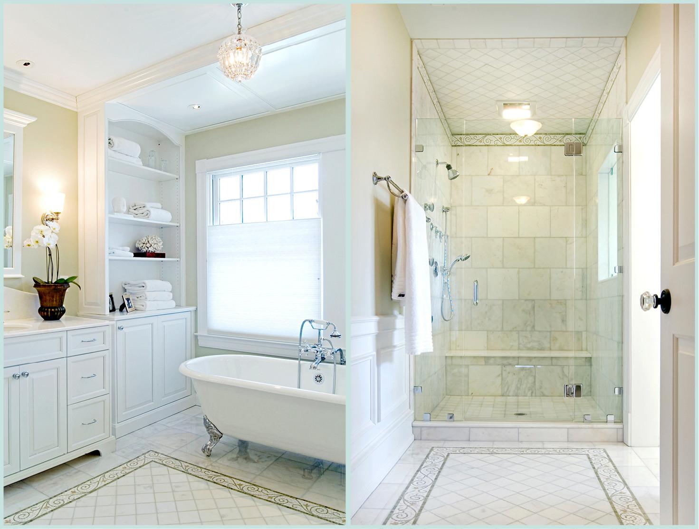 Spa Master Bathroom  Historic Restoration
