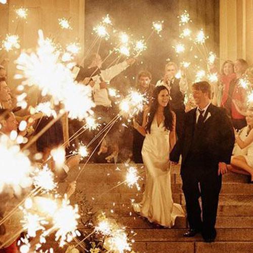 Sparkler Wedding Photos  15 Epic Wedding Sparkler Sendoffs That Will Light Up Any