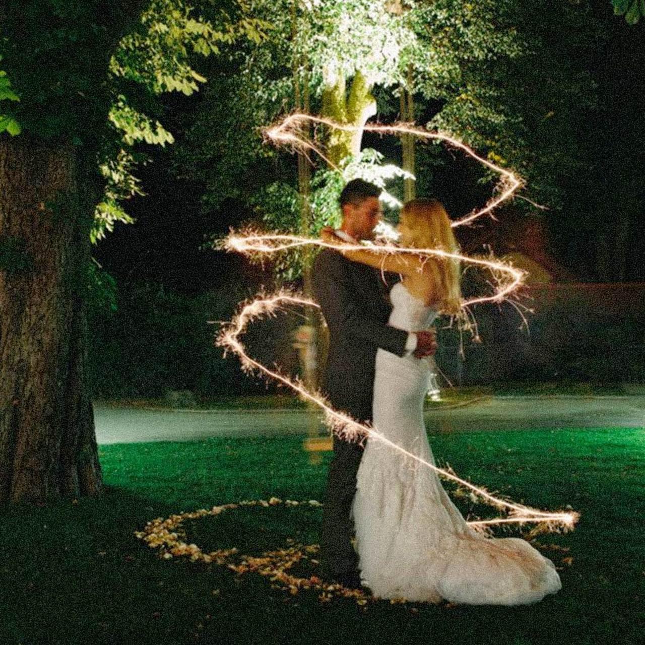 """Sparkler Wedding Photos  Premium Gold 20"""" Wedding Sparklers"""