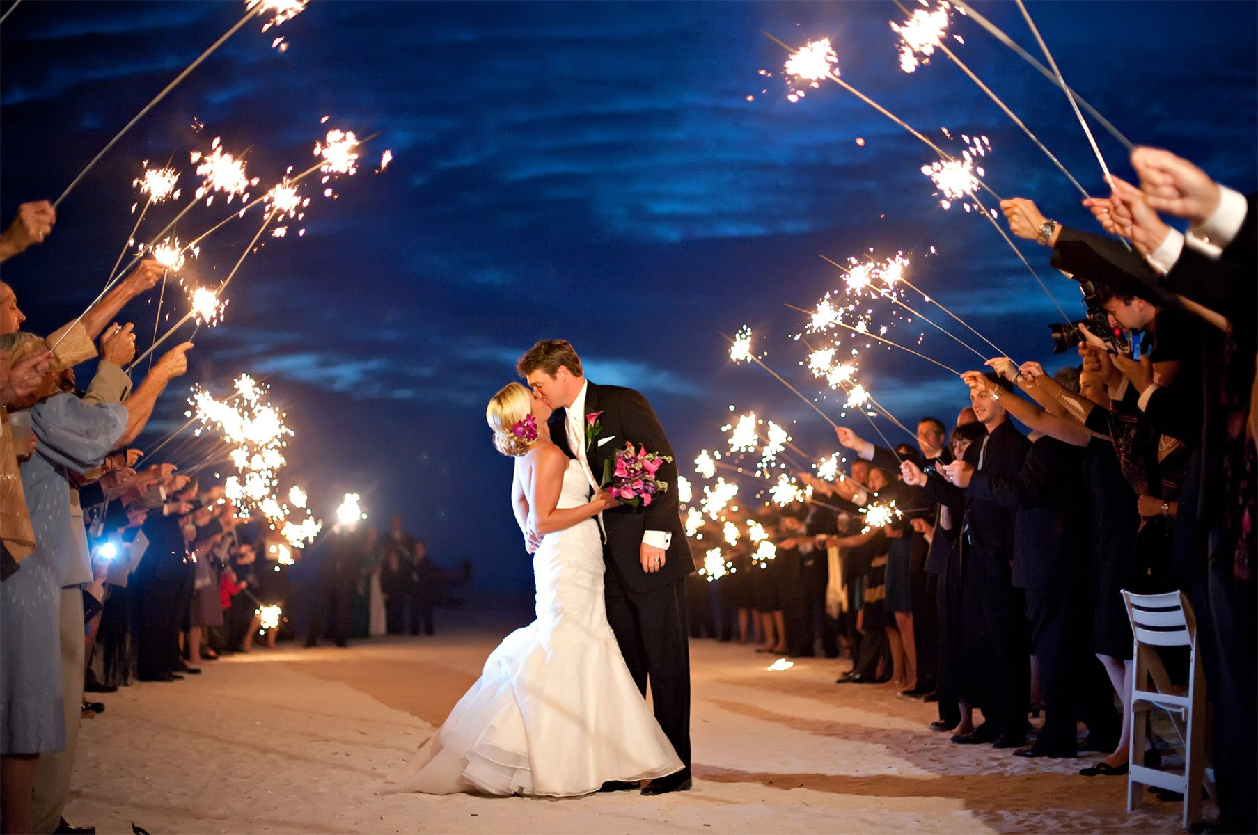 Sparkler Wedding Photos  Using Sparklers for Your Wedding Exit Send f A
