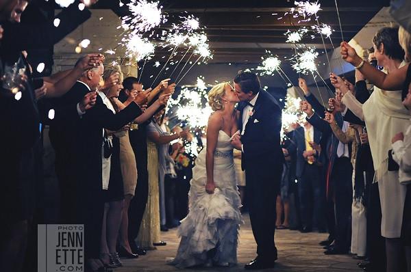 Sparkler Wedding Photos  Go Out With A Bang Coordinating Sparkler Exits