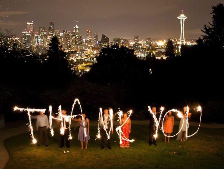 Sparkler Wedding Photos  ViP Wedding Sparklers Seattle Wedding Sparklers