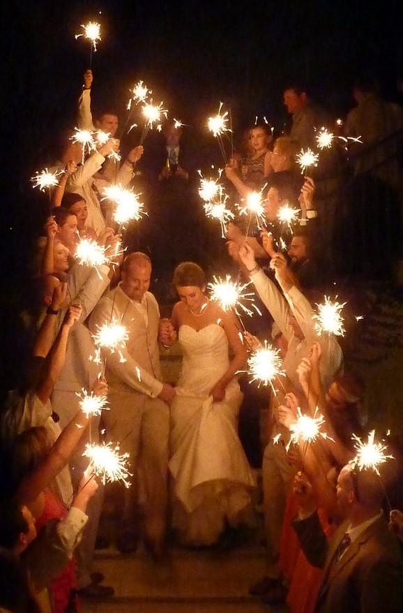 Sparkler Wedding Photos  Wedding Sparkler s Ideas for graphing Sparklers