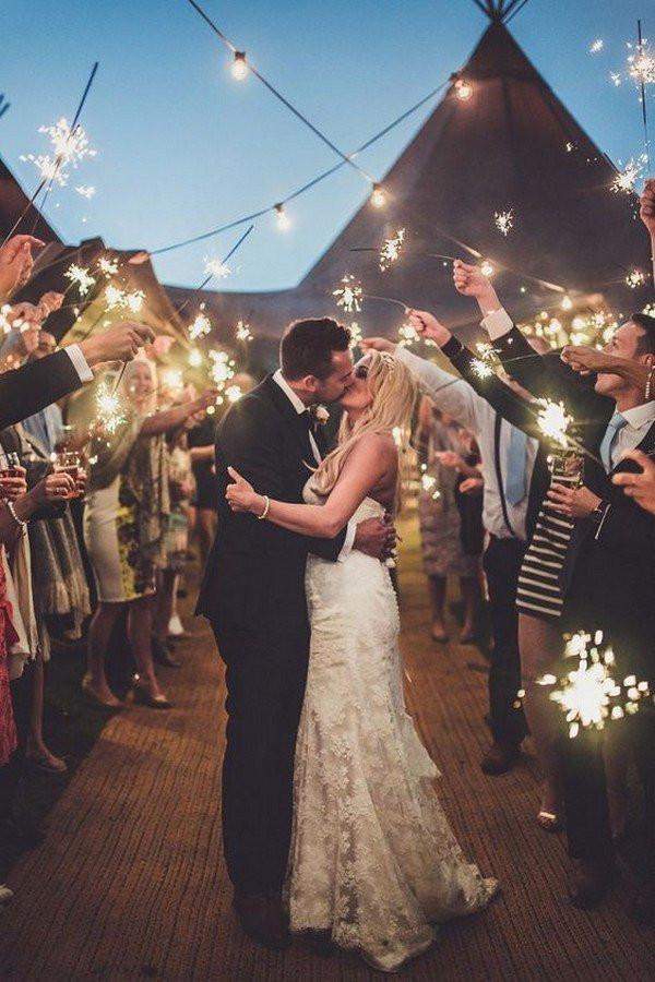 Sparkler Wedding Photos  20 Sparklers Send f Wedding Ideas for 2020 Oh Best Day
