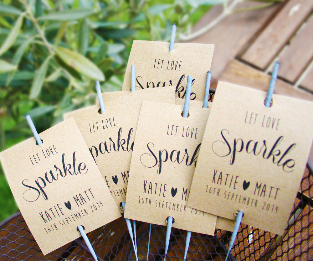Sparklers Wedding Favors  10 x Sparkler covers wedding favours sparkler cover card