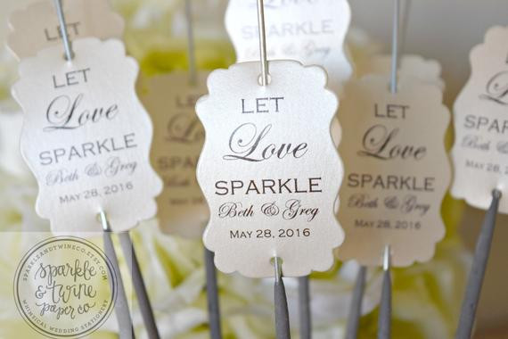 Sparklers Wedding Favors  Sparkler Tags Wedding Sparklers Tags Sparkler by