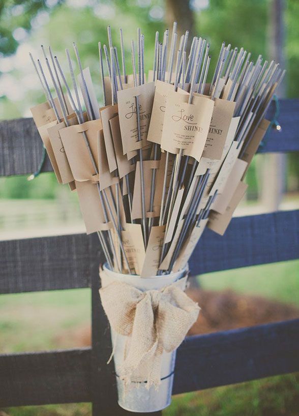 Sparklers Wedding Favors  DIY 10 Ways to Package Wedding Favors American Wedding
