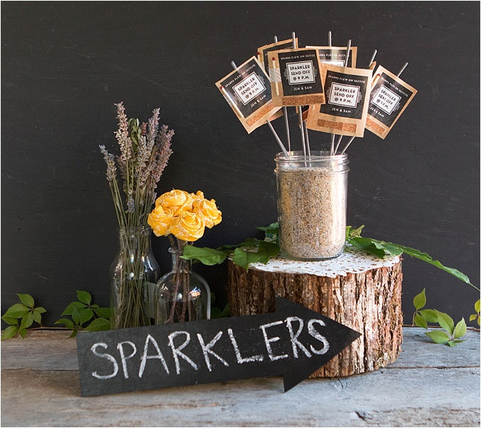 Sparklers Wedding Favors  Wedding Favor Friday Sparkler Send fs Wedding Inspiration