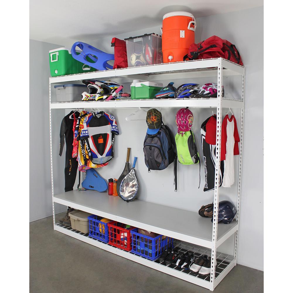 Sports Organizer For Garage  SafeRacks 24 in D x 96 in H x 84 in W 4 Shelf