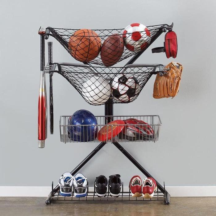 Sports Organizer For Garage  Sports Equipment Storage X Rack