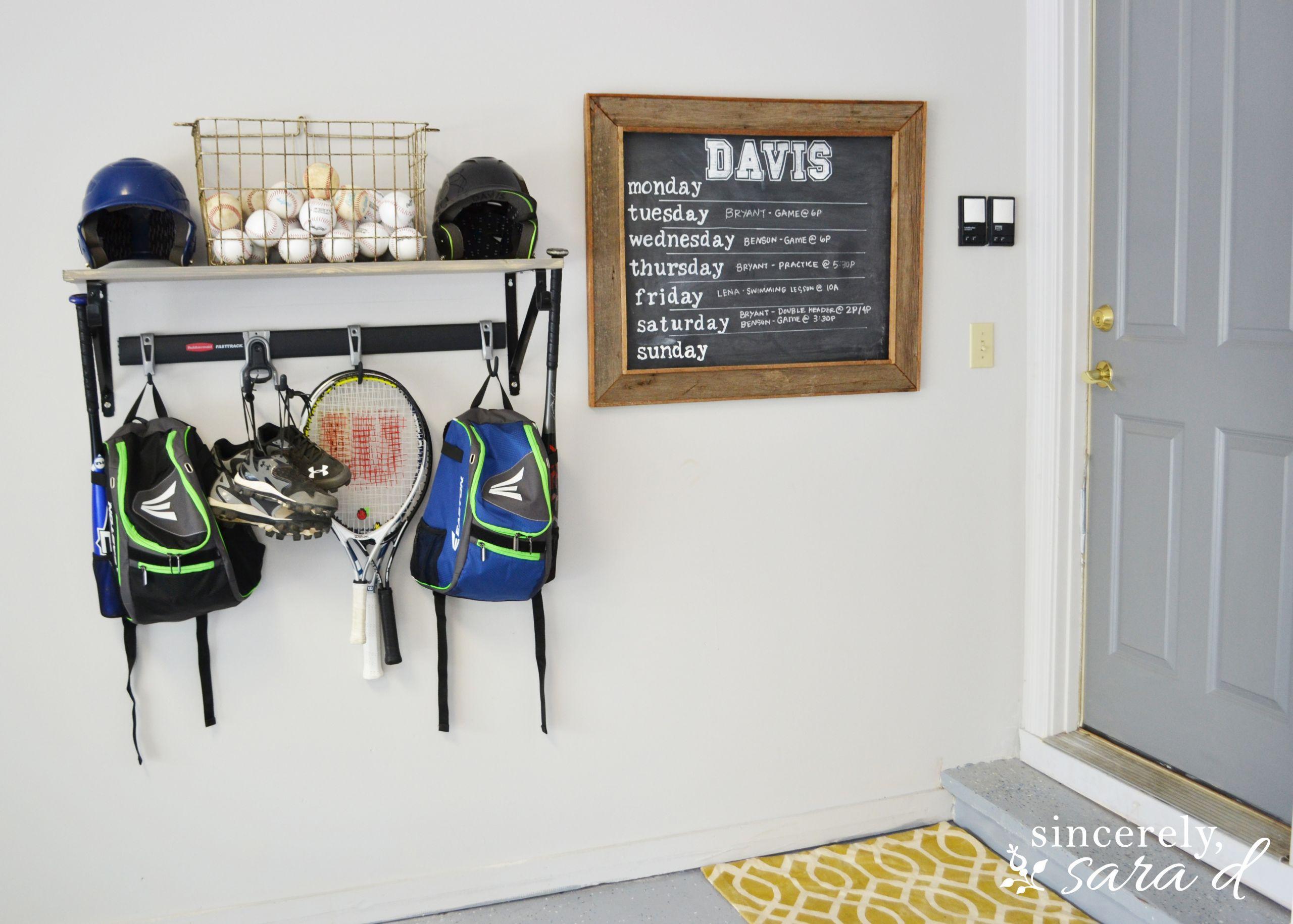 Sports Organizer For Garage  Garage Sports Equipment Organizer
