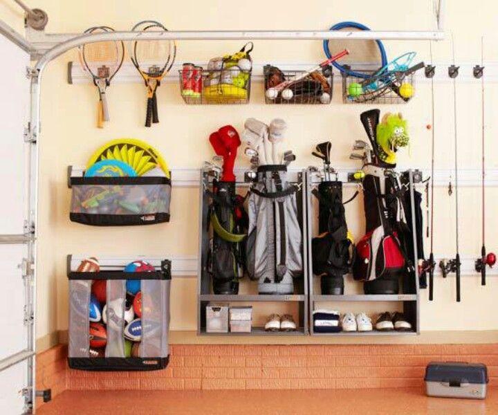 Sports Organizer For Garage  Golf Bag & sports equipment storage
