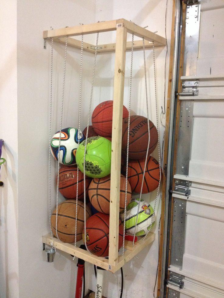 Sports Organizer For Garage  14 best images about Ball storage on Pinterest