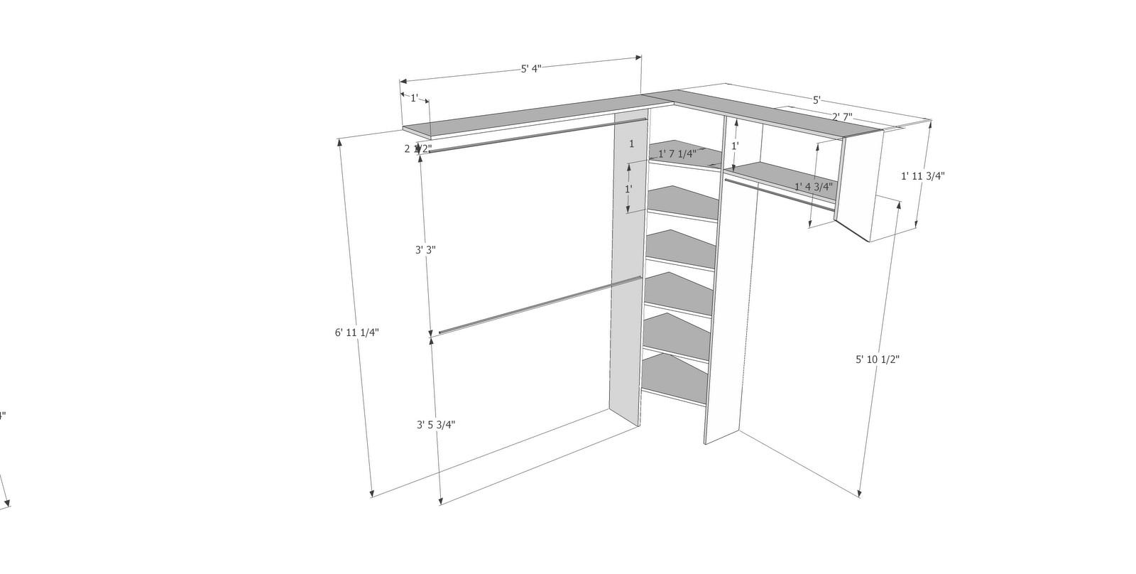 Standard Bedroom Closet Dimensions  Closet Remodel