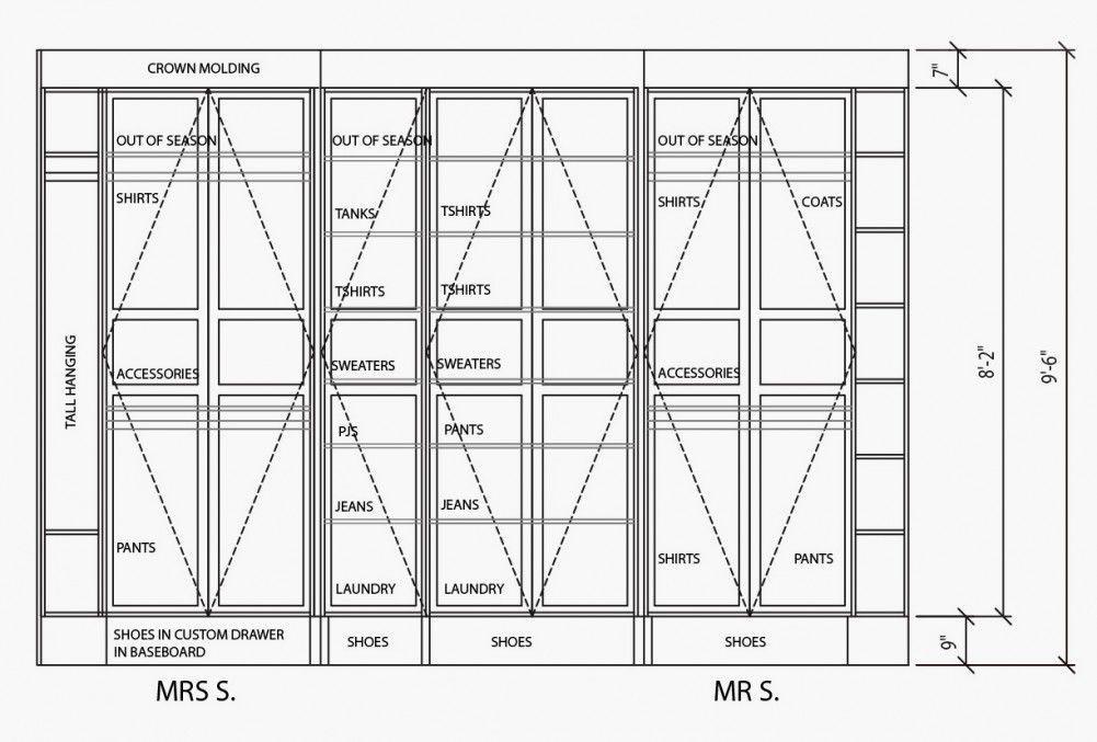 Standard Bedroom Closet Dimensions  Standard Closet Dimensions