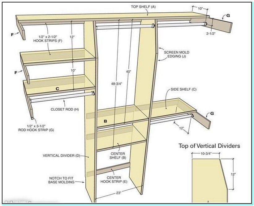 Standard Bedroom Closet Dimensions  walk in closet dimensions standard reference