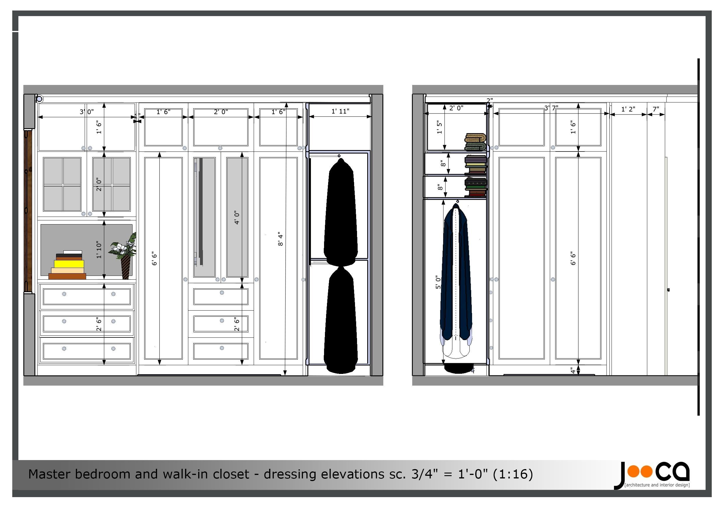 Standard Bedroom Closet Dimensions  What is the standard depth of a bedroom closet MISHKANET