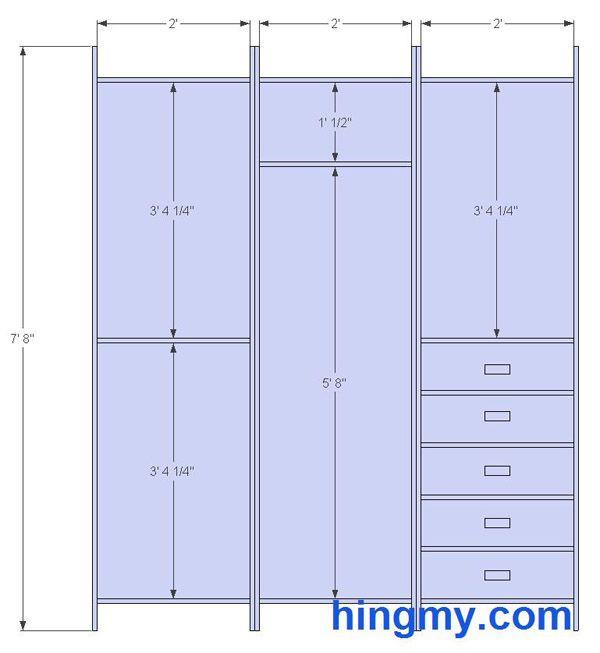 Standard Bedroom Closet Dimensions  Standard Closet Measurements