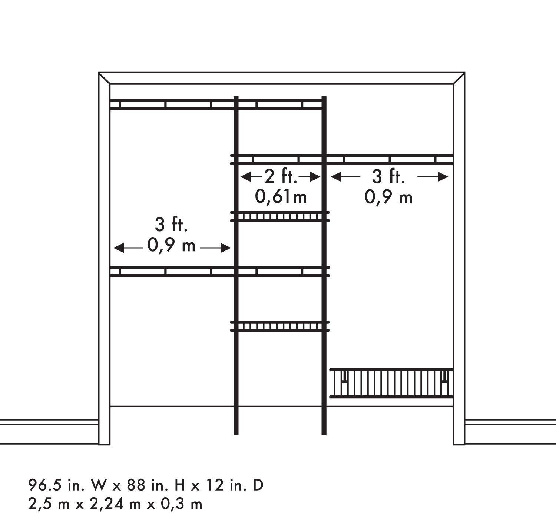 Standard Bedroom Closet Dimensions  Standard Walk In Closet Shelf Depth