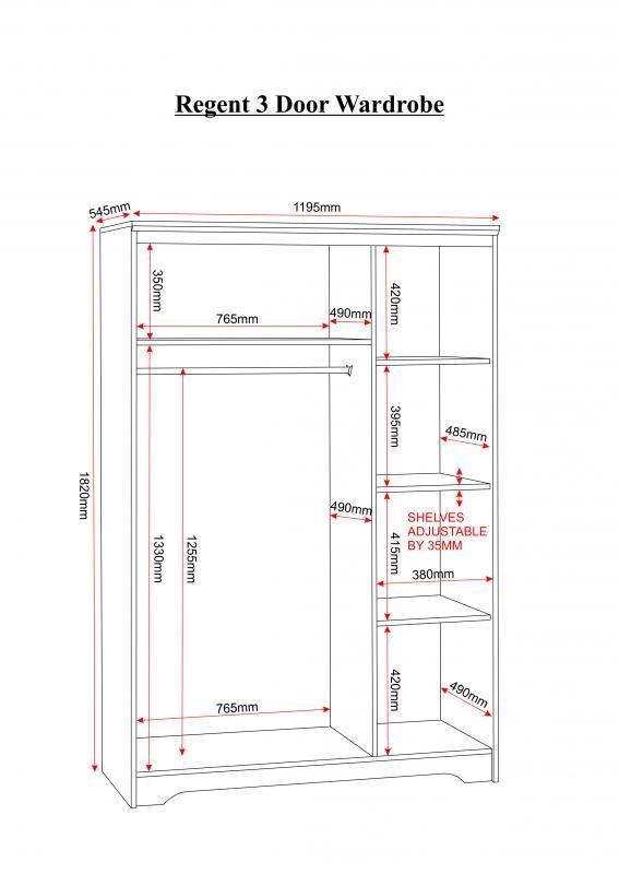 Standard Bedroom Closet Dimensions  Image result for INSIDE DIMENSIONS IN mm for wardrobes
