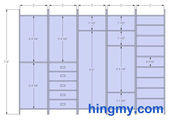 Standard Bedroom Closet Dimensions  Designing a built in Closet