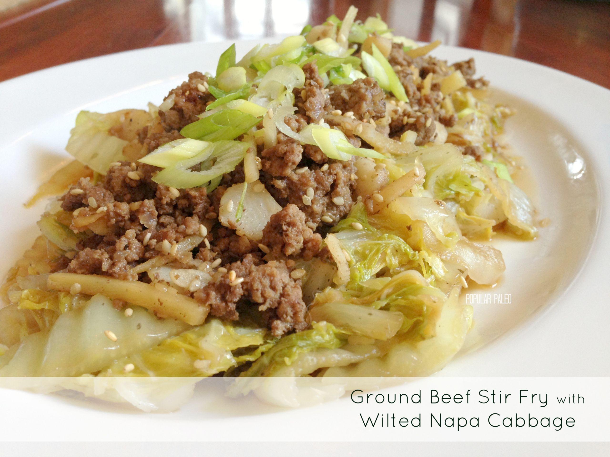 Stir Fry Napa Cabbage  Asian Beef Stirfry w Cabbage by Popular Paleo