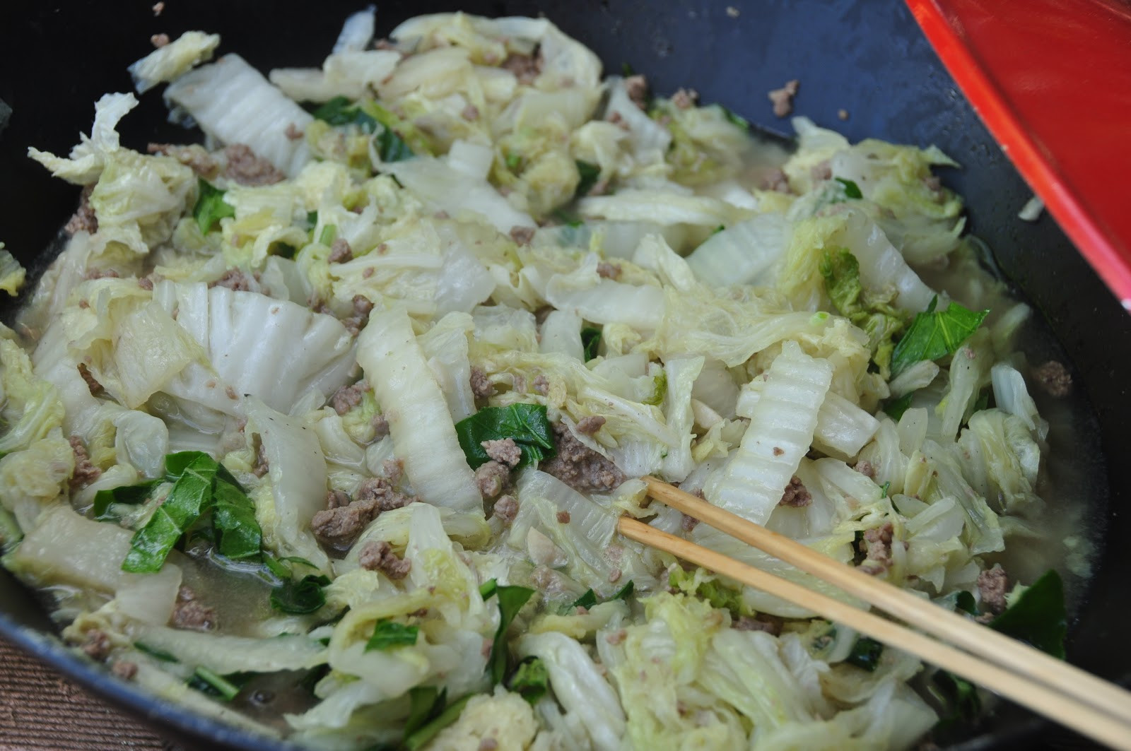Stir Fry Napa Cabbage  Thanh s Kitchen Stir Fried Napa Cabbage Pepper Leaves