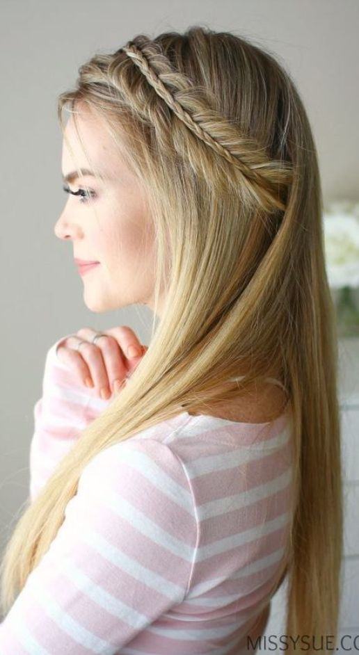 Straight Hairstyles For Weddings  Straight Bridal Hairstyle Inspiration
