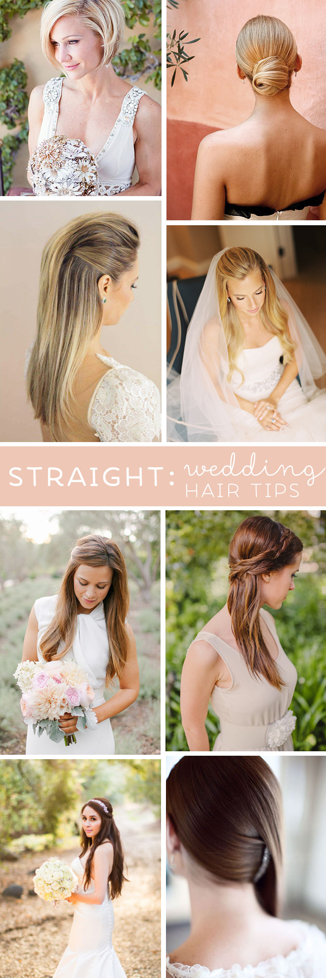 Straight Hairstyles For Weddings  Best Wedding Hair Tips For Wearing Straight Styles