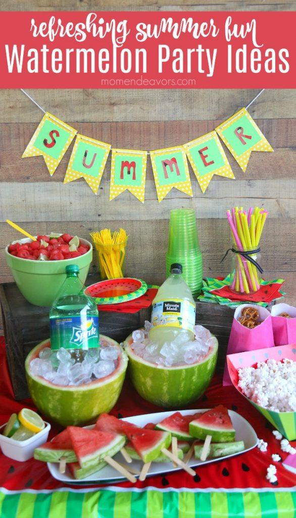 Summer Company Party Ideas  Summer Fun Watermelon Party Ideas
