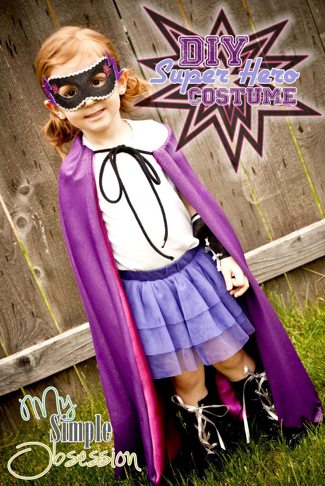 Superhero Costume DIY  My Simple Obsession DIY Super Hero Costume